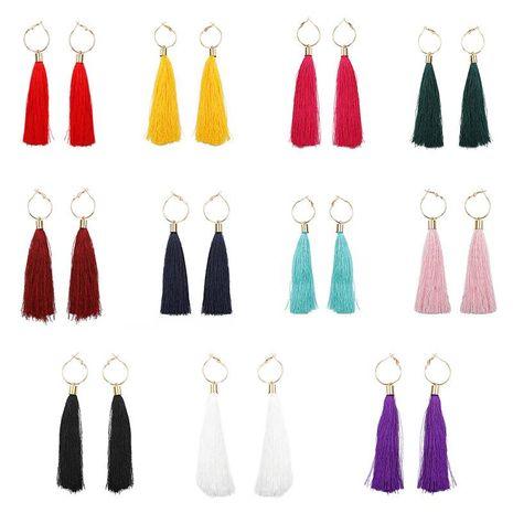 Fashion simple tassel earrings NHDP145101's discount tags