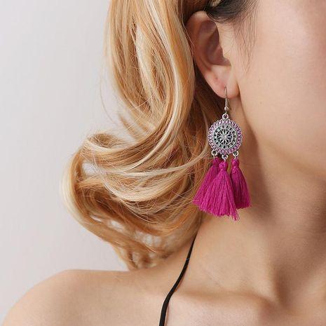 Fashion Sun Flower Long Tassel Earrings NHDP145102's discount tags
