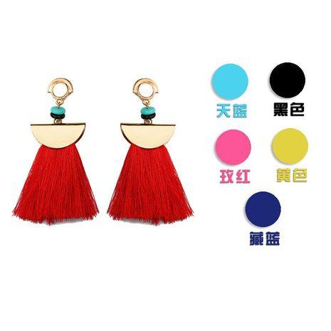 Fashion women alloy fan-shaped tassel earrings NHDP145110's discount tags