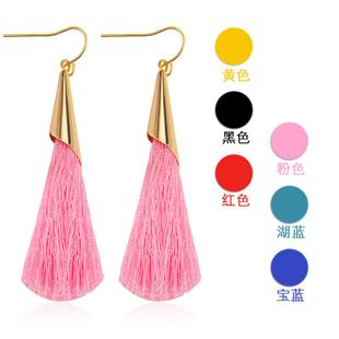 Fashion multi-color long tassel earrings NHDP145120's discount tags