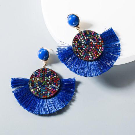 New long rhinestone round tassel earrings NHLN145132's discount tags