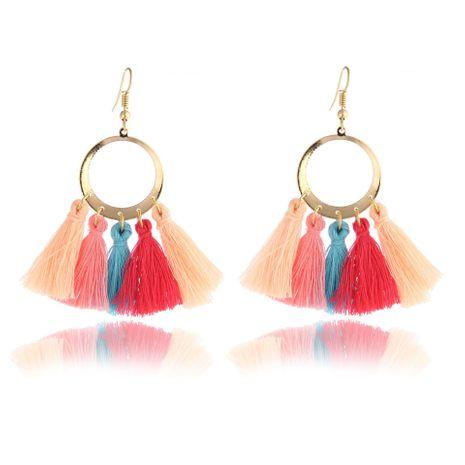 New wool tassel earrings multicolor NHPF145171's discount tags