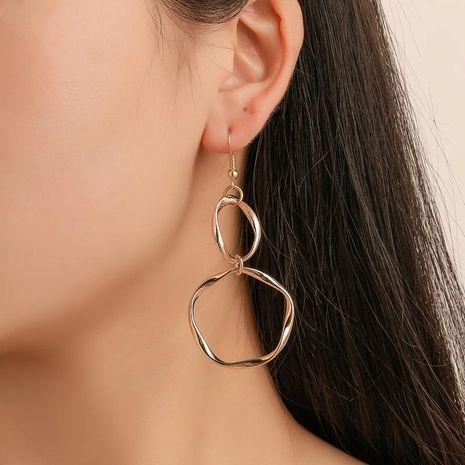 New simple metal circle winding earrings NHDP145172's discount tags
