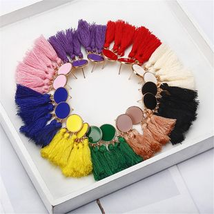 Fashion long dripping tassel earrings NHPF145175's discount tags