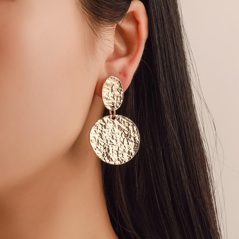 Fashion vintage round metal stud earrings NHDP145179