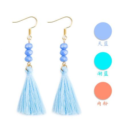 New beaded tassel earrings multicolor NHDP145218's discount tags