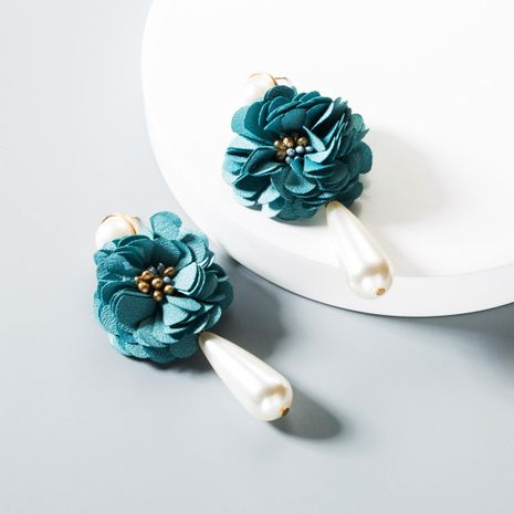 Fashion simple cloth flower beads earrings NHLN145226's discount tags
