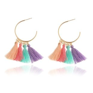 New wool tassel earrings NHPF145252's discount tags