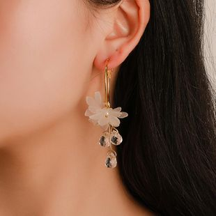 New fashion imitated crystal flower earrings NHDP145265's discount tags