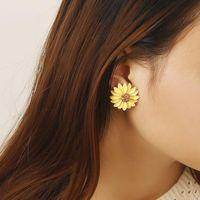 Aretes de flores de margarita dulce NHPF145266