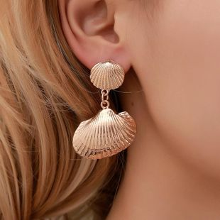 New fashion metal shell earrings NHDP145267's discount tags