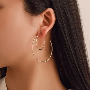 New minimalist double C-shaped earrings NHDP145270's discount tags