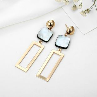 Simple vintage alloy rectangular earrings NHPF145274's discount tags