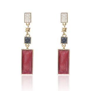 Fashion fresh rectangular earrings NHPF145285's discount tags
