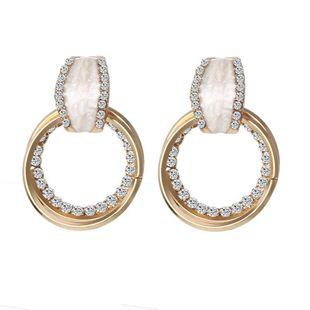 Fashion Rhinestone Geometric Multilayer Circle Earrings NHPF145286's discount tags