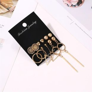 New love frosted geometric tassel earrings NHDP145290's discount tags