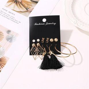 Fashion new LOVE circle tassel earrings NHDP145291's discount tags