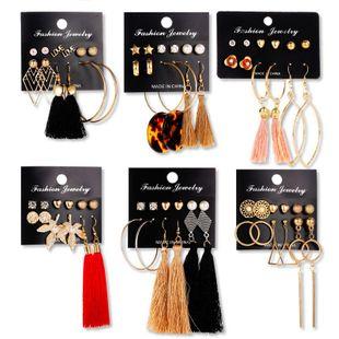 Fashion Fringe Geometric Alloy Earrings 6 pics NHDP145293's discount tags