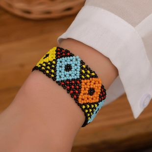 Sweet colored handmade beaded bracelet NHDP145296's discount tags