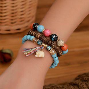 Fashion elephant beaded stretch bracelet 3 pics set NHDP145299's discount tags