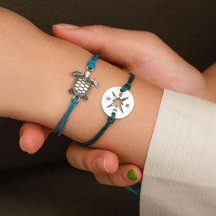 New retro rope turtle compass bracelet anklet NHDP145300's discount tags