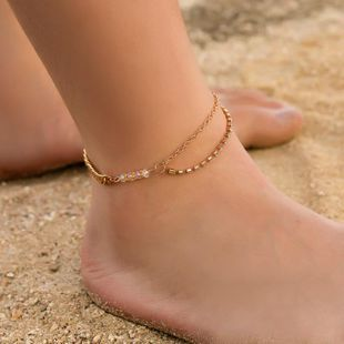 New double chain beaded anklet NHDP145305's discount tags