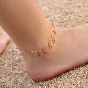 Fashion simple heart copper anklet NHDP145309's discount tags