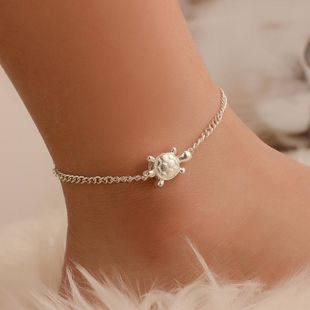 Simple delicate little turtle anklet alloy NHDP145310's discount tags