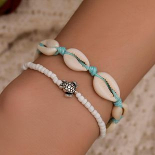 New handmade beaded shell turtle bracelet NHDP145313's discount tags