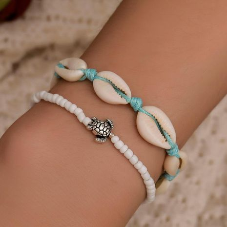 Nueva pulsera artesanal de tortuga con concha y cuentas NHDP145313's discount tags