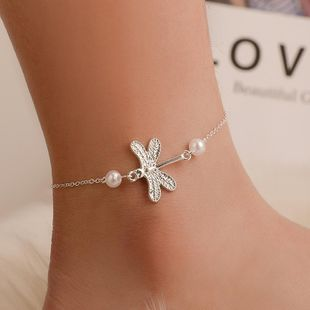 New metal enamel beads anklet NHDP145314's discount tags