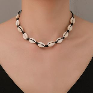 Fashion hand-woven shell necklace choker NHDP145320's discount tags