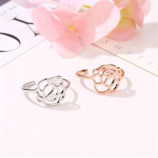 Sleek minimalist rose openwork ring rose alloy NHDP145326's discount tags