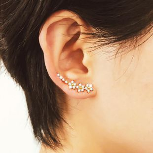 Stylish cute rhinestone star ear cuff clip earrings NHDP145328's discount tags