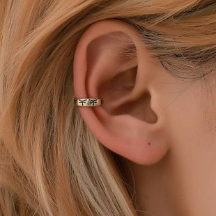 New simple copper ear cuff clip earrings NHDP145330's discount tags