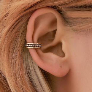 Fashion pierced wavy copper ear cuff clip earrings NHDP145331's discount tags