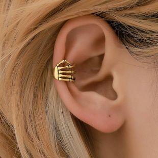 Retro clip earrings skull hand copper ear cuff NHDP145332's discount tags