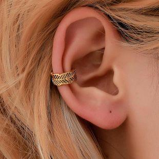 New minimalist leaf copper ear cuff clip earrings NHDP145336's discount tags