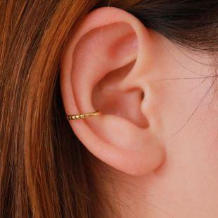 Simple retro clip earrings U-shaped copper ear cuff NHDP145337's discount tags
