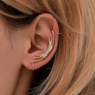 Simple ear cuff metal curved clip earrings NHDP145338's discount tags