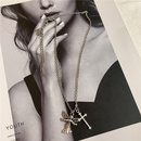 Womens Cross Painted Alloy Necklaces NHYQ145026