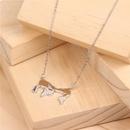 Creative Geometry World Map Titanium Steel Necklace NHPY145043