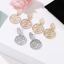 Fashion vintage round metal stud earrings NHDP145179