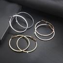 Simple fashion rhinestoneencrusted alloy big hoop earrings NHPF145217