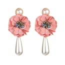Fashion simple cloth flower beads earrings NHLN145226