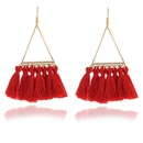 Vintage color tassel earrings NHPF145237