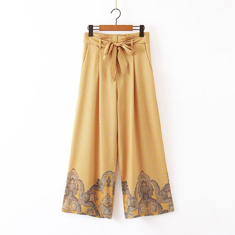 Fashion simple and versatile casual breathable wideleg pants NHAM145393