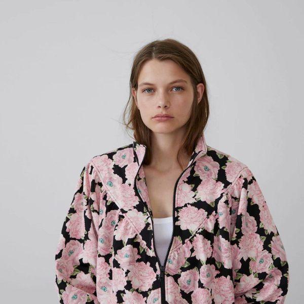 Autumn floral print bomber jacket NHAM145432