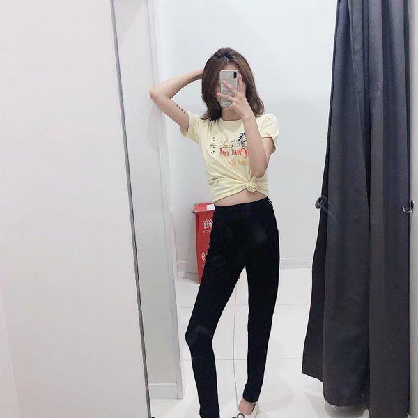 Autumn high stretch tight trousers NHAM145469
