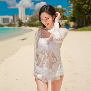 South Korea gathers steel plate small fragrance size breast swimsuit three-piece suit NHXW145499's discount tags